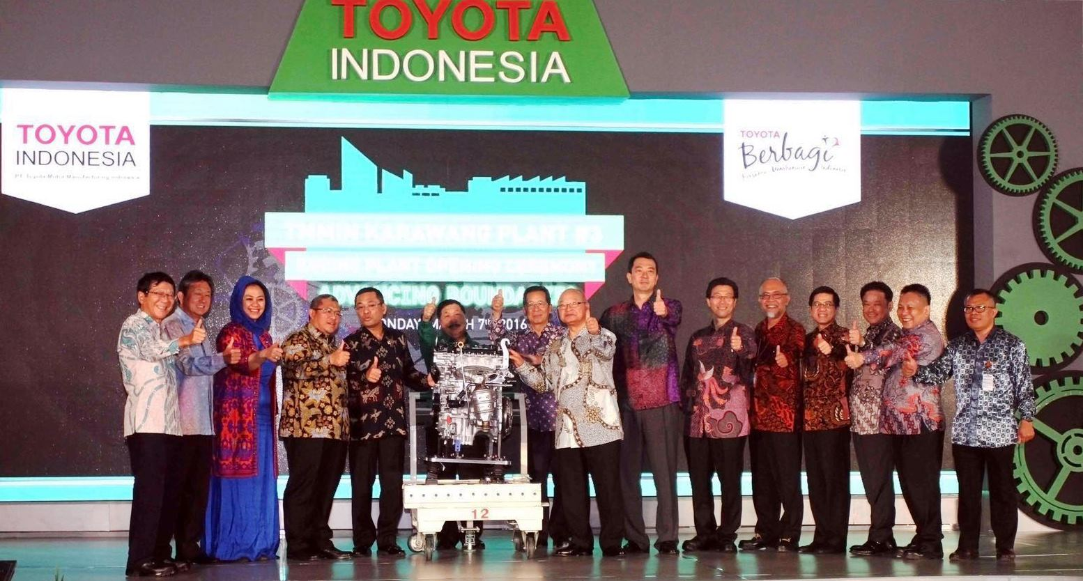 TMMIN Begins Operation Of the New Karawang Engine Plant