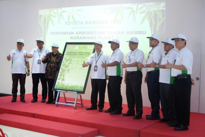 Toyota Indonesia inaugurated the Bamboo Garden Arboretum