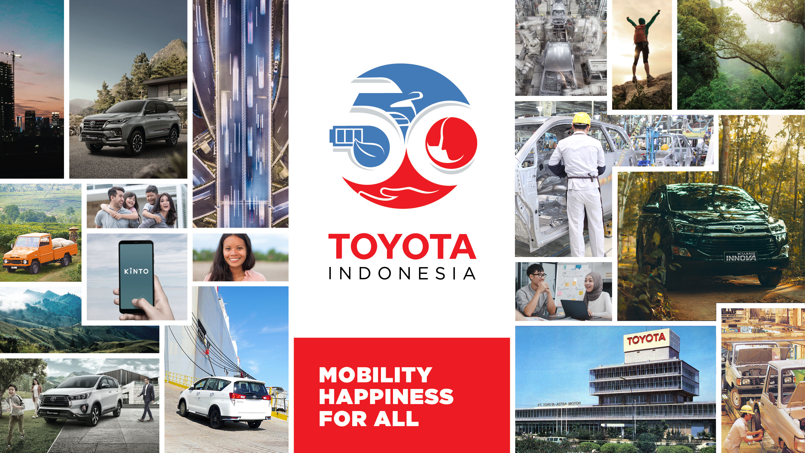 50th of Toyota in Indonesia Committed To Present Mobility Happiness for All