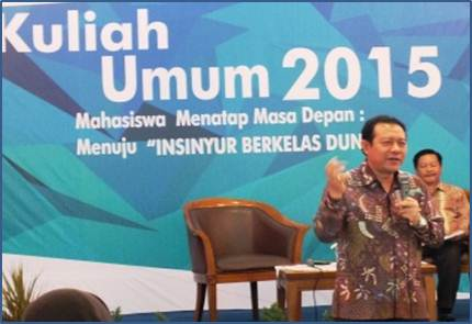 General Lecture at ITB by The Director of TMMIN