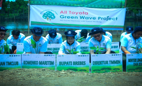 Toyota Indonesia Gives Afforestation of Java Island North Coast