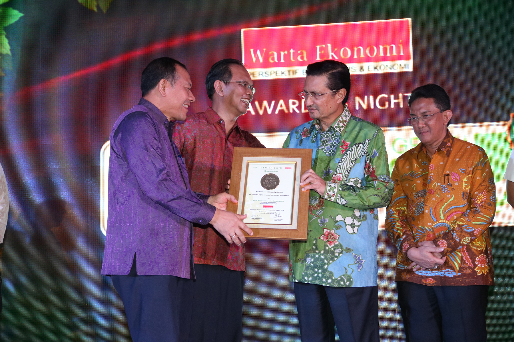 Awarding Night of Social Business Innovation and Best Green CEO 2016