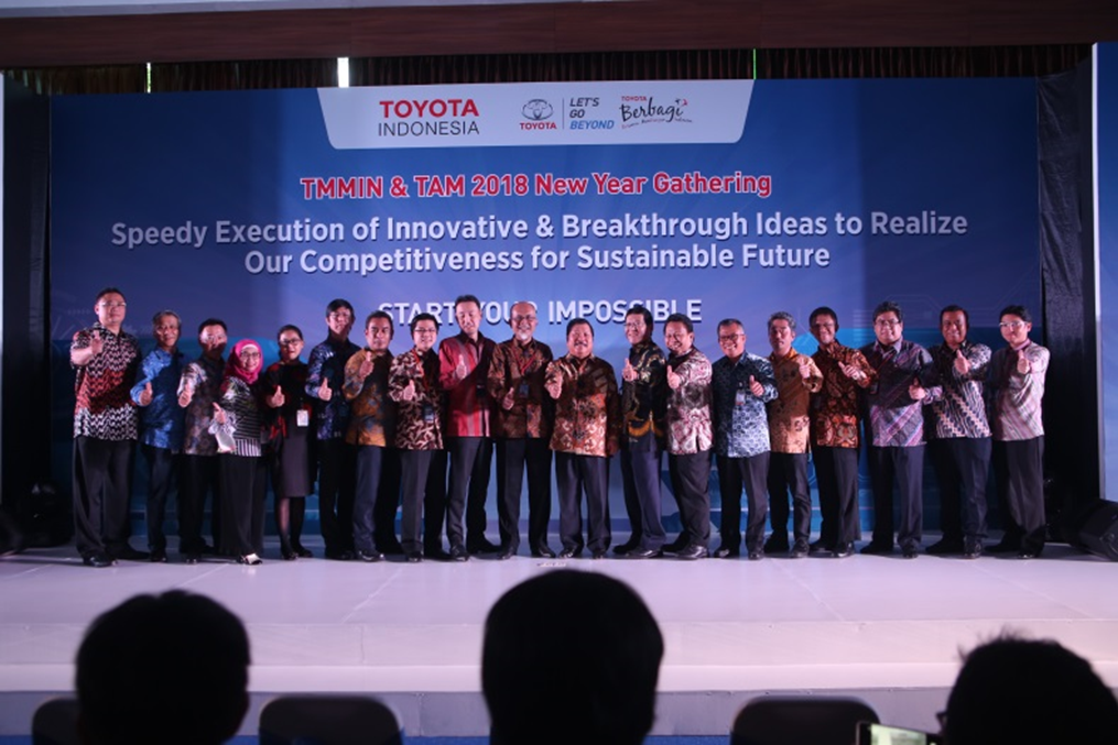 Toyota Indonesia Organized New Year Gathering 2018