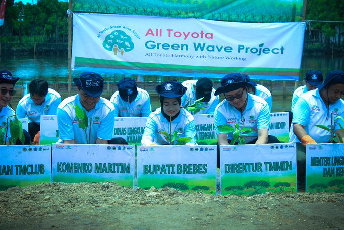 Toyota Indonesia Actualize Afforestation on the North Coast of Java Island