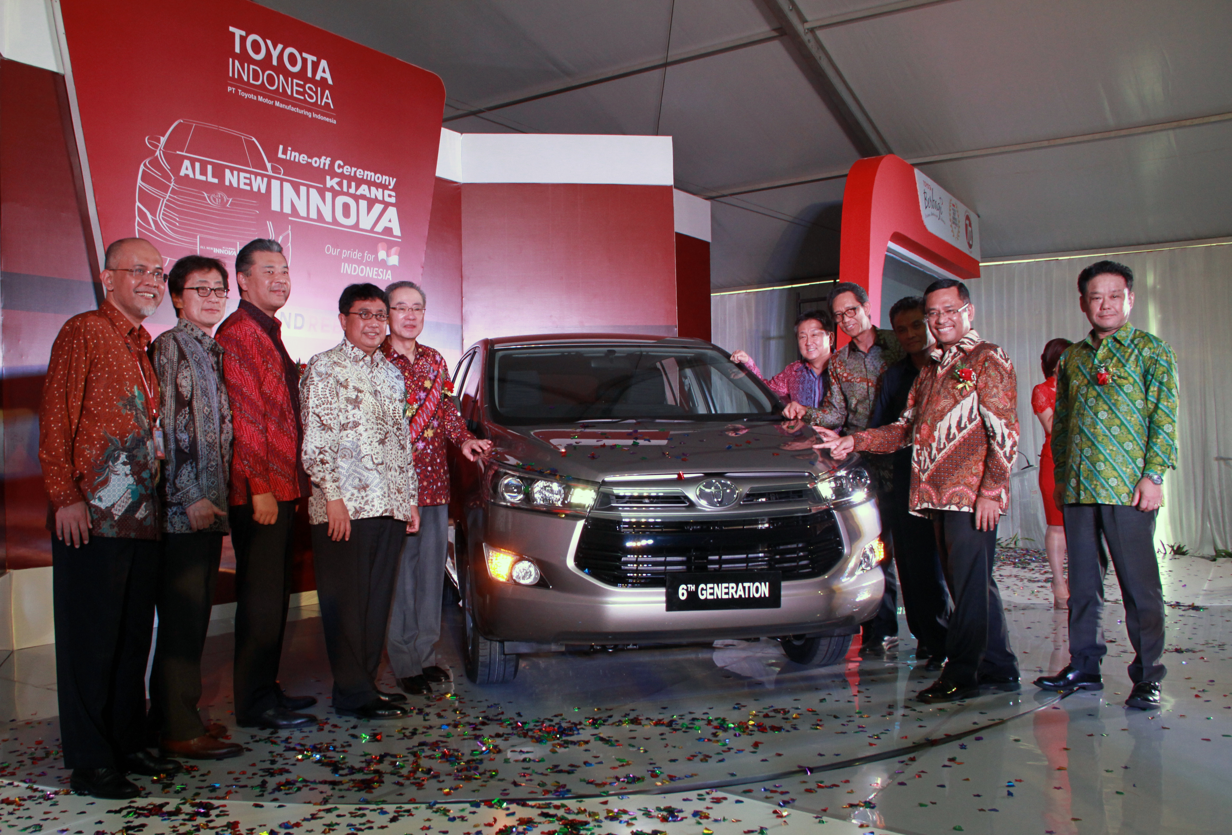 Toyota Indonesia Celebrates First Production Of The All New Kijang Innova