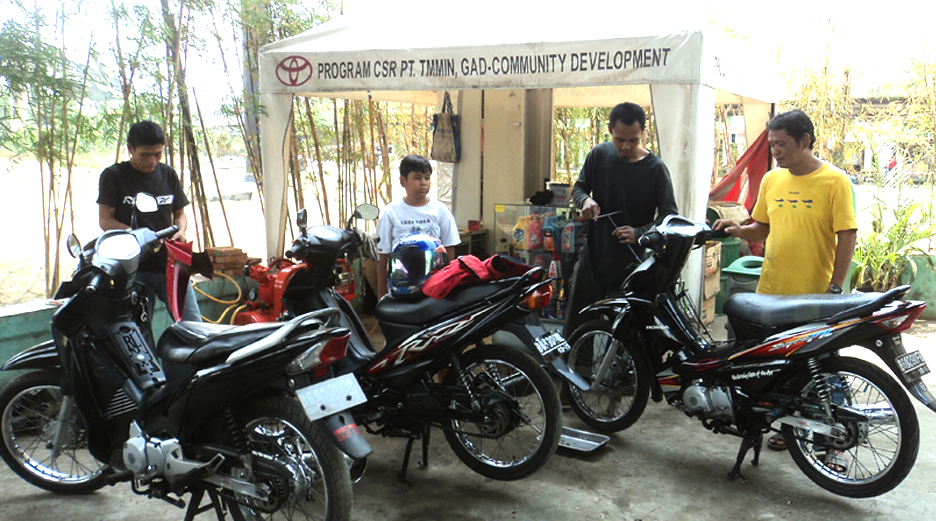 Community Development - Motorcycles Workshop on Sungai Bambu, Karawang