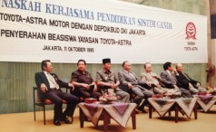 Cooperation Toyota-Astra Motor with the Department of Education Jakarta