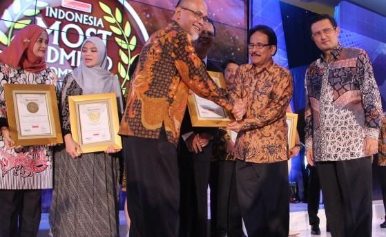 TMMIN Earn the Awards, Again Indonesia Most Admired Companies 2016