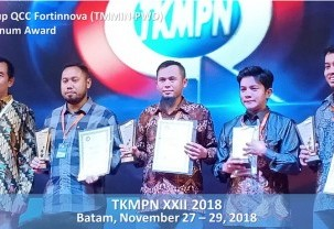 Received 3 Gold Medals from Temu Karya Mutu dan Produktivitas 2018 (QCC-SS Award)